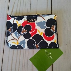 Kate spade breezy floral keychain wallet 💐NEW